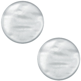 Cabochon Polaris plat 12mm parelmoer grey 34718
