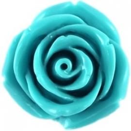Roosje 11x8mm azuurblauw