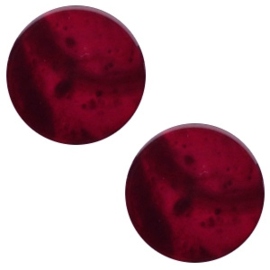 Cabochon Polaris plat 12mm mosso shiny royale aubergine red 41768