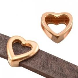 DQ leerschuiver hart voor 10mm rosé goud nikkelvrij 21571