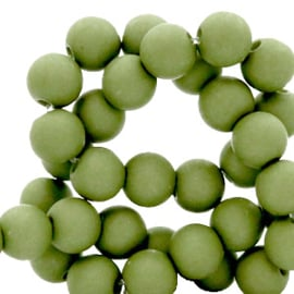Acrylkraal 8mm rond  green olive 69682
