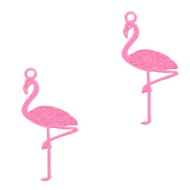 Bohemian bedel flamingo 22x11mm pink 54216