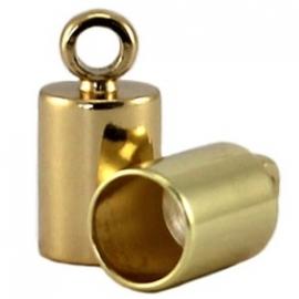 DQ eindkapje voor 6,5mm metaal gold plated 8706