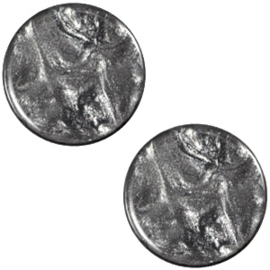 Cabochon Polaris plat 20mm jais antracite grey 32561