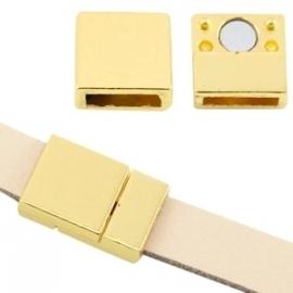 BQ magneetslot voor 10x2,9mm goud 28273