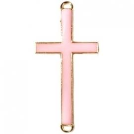 Kruis tussenzetsel 37x17mm licht roze