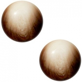 Cabochon Polaris 12mm jaquard beige dark topaz 21212