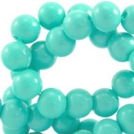 Glaskraal opaque 4mm light emerald groen 10 stuks 23894