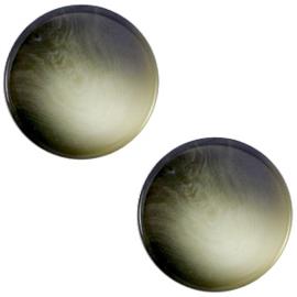 Cabochon Polaris plat 12mm jaquard capulet olive green 35271