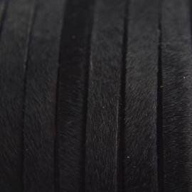 DQ Leer met haar 5mm zwart