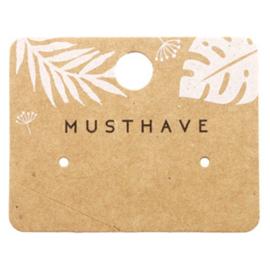 """Sieraden kaartje """"musthave"""" leaves brown 62173"""