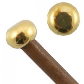 DQ eindkapje dop voor 2mm goud nikkelvrij 20603