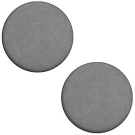Cabochon Polaris plat 20mm matt stormy silver grey 31949