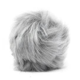 Pompom hanger faux fur light grey 46860