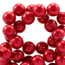 Glaskraal 8mm pearl coating raspberry wine red 41521