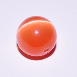 Cateye 10mm rond oranje