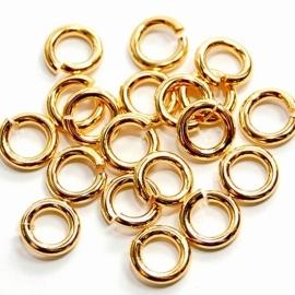 DQ Ringetje 4,5x1mm 20 stuks goud mf7506