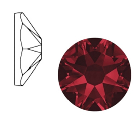 Swarovski Elements SS34 flatback Xirius Rose siam 52164