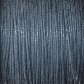 Waxkoord donker blauw 0,5mm per meter