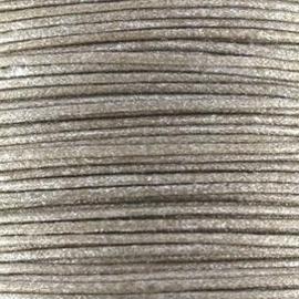 Waxkoord taupe metallic 1mm per meter