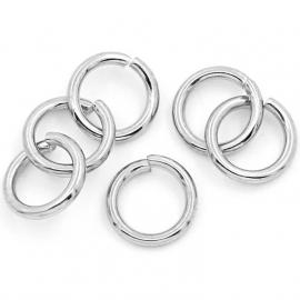 RVS ringetje 8x1,2mm, 25 stuks