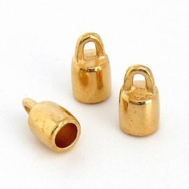 DQ eindkapje voor 3mm goud mf6994