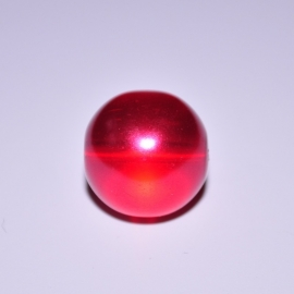 Glasparel 12mm rond rood