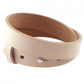 Cuoio armband dubbel 15mm leer off white 17523