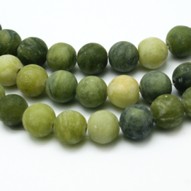 Taiwan Jade frosted olive green 4mm X-G-M248