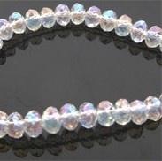 Facet 4x3mm rondel crystal high shine 10 stuks D07217