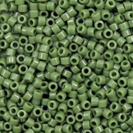 Miyuki delicas 11/0 (2mm) opaque avocado green 1135