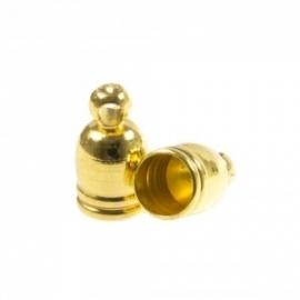 DQ eindkapje voor 5mm metaal goudkleur Pp720