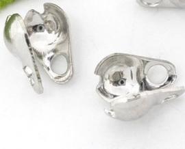 Eindkapje voor 2mm ball chain antiek zilver
