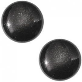 Cabochon Polaris 20mm centroperla black 17122