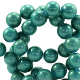 Glaskraal 6mm pearl coating dark turmaline green 41508