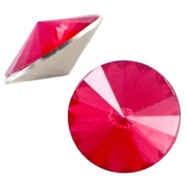 BQ rivoli 1122 12mm puntsteen rose red opal 31476