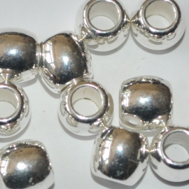 Ovaal 10mm zilver metallook