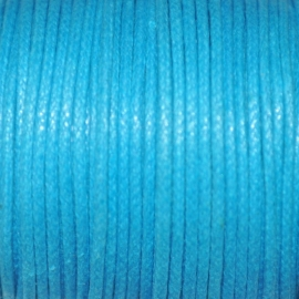 Waxkoord  turquoise 0,5mm per meter