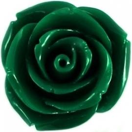 Roosje 15x7mm donker groen