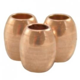 DQ ovaal tube 4,5x4mm rosé goud nikkelvrij 23281