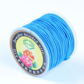 Elastisch draad 1mm licht blauw 1 meter