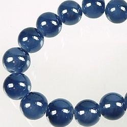 High shine kralen 10mm montanablauw