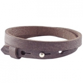 Cuoio armband dubbel 8mm leer chocolato brown 17513