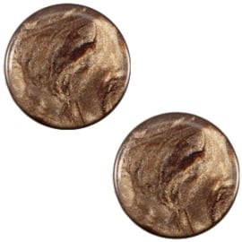 Cabochon Polaris plat 12mm jais smoke topaz 32567