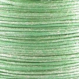 Waxkoord licht groen metallic 1mm per meter