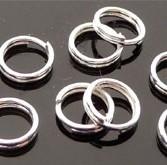 Splitring 6mm 25 stuks zilver