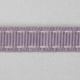 Lint met wit stiksel 10mm per meter paars