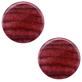 Cabochon Polaris plat 12mm sparkle dust aubergine red 38646