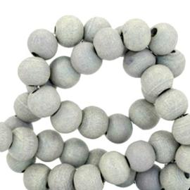 Houten kralen 6mm grijs 38500 10 stuks
