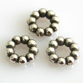 Baliring 12mm antiekzilver metallook
